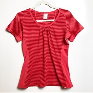 The North Face Vaporwick Red Striped Tee M
